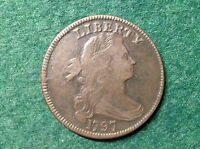 1797 DRAPED BUST LARGE CENT    & BEAUTIFUL GRIPPED EDGE