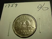 1959   CANADA CIRCULATED 5 CENT COIN   CANADIAN NICKEL