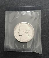 1987 P JEFFERSON NICKEL CUT FROM US MINT SET IN CELLO