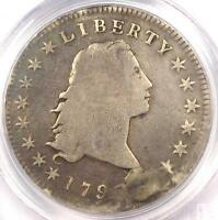 1795 FLOWING HAIR SILVER DOLLAR $1 COIN 3 LEAVES   PCGS GENUINE   VG DETAILS