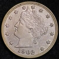 UNCIRCULATED 1902 LIBERTY V NICKEL R2THP
