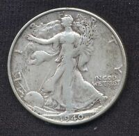 1940-S  WALKING LIBERTY HALF DOLLAR -  VF