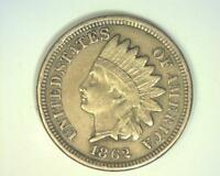 1862 INDIAN CENT  LY FINE   356036 RE'AO