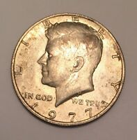 1977 JOHN F. KENNEDY HALF DOLLAR  CIRCULATED COIN
