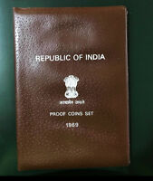 INDIA 1969 GANDHI 9 COINS PROOF SET WITH ORIGNAL COVER & PARAMOUNT RECEIPT