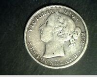 1900 NEWFOUNDAND CANADA 20 CENTS MED TO HIGH GRADE .1401 OZ SILVER CAN 551