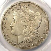 1893-O MORGAN SILVER DOLLAR $1 - ANACS EXTRA FINE 40 DETAILS EF40 -  CERTIFIED COIN