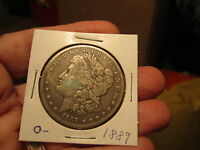1889   O  $1 MORGAN SILVER DOLLAR UNCLEANED NOT PROF. RATED GRADED CIRCULATED