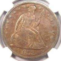 1872 S SEATED LIBERTY SILVER DOLLAR $1   NGC XF DETAIL EF    DATE