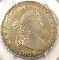 1806/9 DRAPED BUST HALF DOLLAR 50C COIN O-111 INVERTED 6 - PCGS VF DETAILS