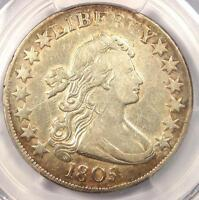 1805 DRAPED BUST HALF DOLLAR 50C - PCGS VF DETAILS -  COIN - NEAR EXTRA FINE