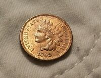 1865 INDIAN HEAD CENT: NICELY SMOOTH RD/BRN SURFACES LUSTER&DIAMONDS:CHOICEUNC
