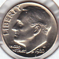 1980 D ROOSEVELT DIME UNCIRCULATED UNCERTIFIED