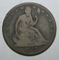 1877 CC  SEATED LIBERTY SILVER HALF DOLLAR P166