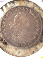 1803 US DRAPED BUST HALF DOLLAR LARGE 3 EXTRA FINE
