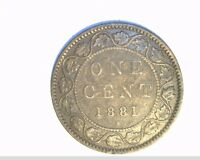 1881 H CANADA 1 PENNY HIGH GRADE CIRCULATED BRONZE CAN 534