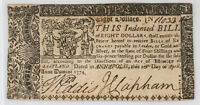 MARYLAND $8 EIGHT DOLLARS NOTE APRIL 10 1774 COLONIAL CURRENCY