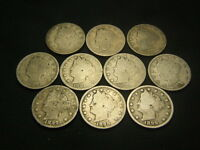 1890, 1891, 1892, 1893, 1894, 1894, 1896, 1897, 1898, 1899 LIBERTY V NICKEL