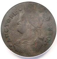 1787 DRAPED BUST LEFT CONNECTICUT COLONIAL COPPER COIN   ANACS VF35 DETAILS