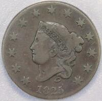 1825 CORONET HEAD LARGE CENT ANACS G06 DOUBLEJCOINS A1