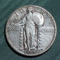 1927P STANDING LIBERTY QUARTER CHOICE VF 2.99 COMBINED S&H QU26