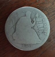 1875 S SEATED HALF DOLLAR   MICRO S  ULTRA    ESTIMATED 30 KNOWN