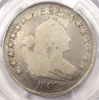 1807 DRAPED BUST HALF DOLLAR 50C - PCGS VG DETAILS -  CERTIFIED COIN