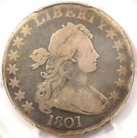 1801 DRAPED BUST HALF DOLLAR 50C - PCGS VG DETAILS -  CERTIFIED COIN