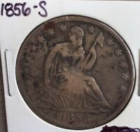 1856 S SEATED HALF DOLLAR   XF DETAILS SEE PICS   PRICED TO SELL