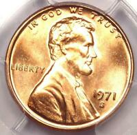 1971 S LINCOLN MEMORIAL CENT PENNY 1C   PCGS MS66 RD PLUS GRADE   NEAR MS67