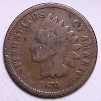 GOOD 1873 CLOSED 3 INDIAN HEAD CENT PENNY R10CT