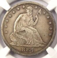 1864 S SEATED LIBERTY HALF DOLLAR 50C   NGC XF45 EF45    CIVIL WAR COIN