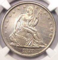 1873 NO ARROWS SEATED LIBERTY HALF DOLLAR 50C   CERTIFIED NGC XF DETAILS XF