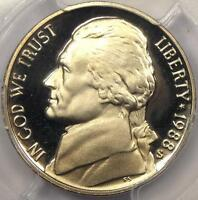 1988 S JEFFERSON NICKEL 5C   PCGS PR70 DCAM DEEP CAMEO    IN PF70