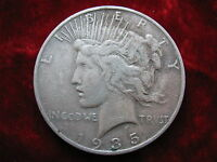 1935 S PEACE SILVER DOLLAR ORIGINAL CIRCULATED COIN  DATE
