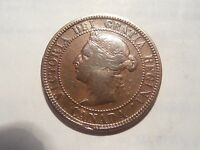 1888 CANADIAN LARGE CENT/PENNY IN VG CONDITION. BUT YOU DECIDE