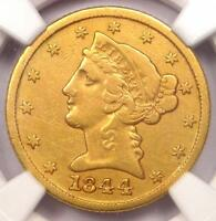 1844 C LIBERTY GOLD HALF EAGLE $5   NGC VF DETAILS    CHARLOTTE GOLD COIN
