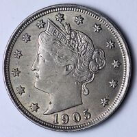 UNCIRCULATED 1905 LIBERTY NICKEL R1EM