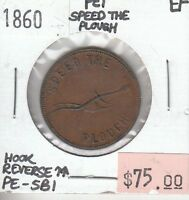 CANADA PRINCE EDWARD ISLAND SPEED THE PLOUGH 1860 XF EXTRA FINE
