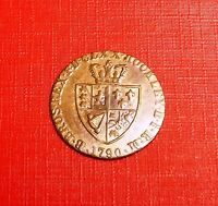 GEORGE 111 1790 BRASS GUINEA GAMING TOKEN NICE  COIN
