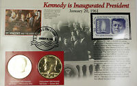 1980 P & D KENNEDY INAUGURATED PRESIDENT HALF DOLLAR COIN $1 ST. VINCENT STAMP