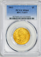 1811 CAPPED BUST $5 PCGS MS 64
