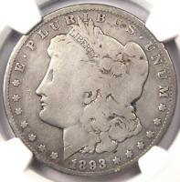 1893-O MORGAN SILVER DOLLAR $1 - NGC VG DETAILS -  CERTIFIED KEY DATE COIN