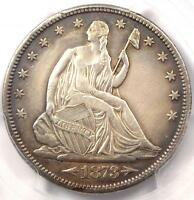 1873 CC ARROWS SEATED LIBERTY HALF DOLLAR 50C   PCGS XF DETAILS EF    COIN