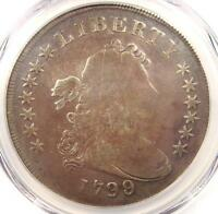 1799/8 DRAPED BUST SILVER DOLLAR $1 13 STARS   PCGS VG DETAILS    COIN