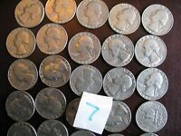 1982 QUARTER ROLL BOTH P AND D MIXED 40 COINS CIRCULATED 7