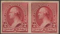 SC  219DP                 2C WASHINGTON             PLATE PROOF PAIR STAMP PAPER