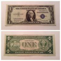 VINTAGE STAR 1935 H $1 SILVER CERTIFICATE ONE DOLLAR NOTE WASHINGTON BLUE VNC