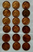 LOT 18 US 1 LINCOLN WHEAT PENNIES:1940 1966 INCL. 1941D/41/42D/44/44S/45S/