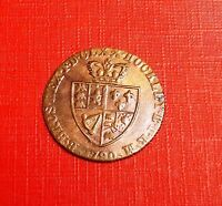 GEORGE 111 1790 BRASS GUINEA GAMING TOKEN[2] NICE  COIN